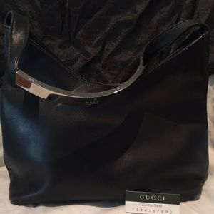 Vintage Gucci Black Shoulder Bag *Authenticated